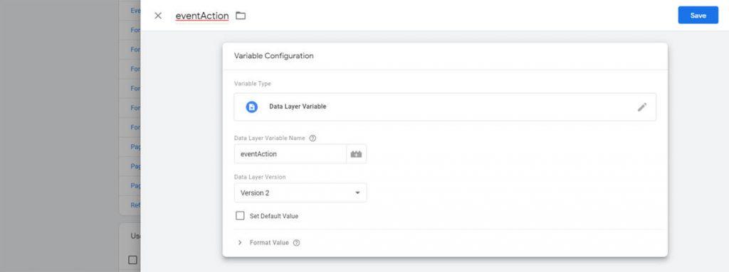 Data layer variable name